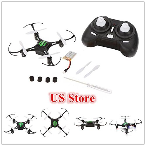 DICPOLIA JJRC H8 Mini 2.4G 4CH 6 Axis RTF RC Quadcopter Led Night Lights CF Remote Control Airplane Mode Toys Large Outdoor Sky Rover Racing Controllers Helicopters Drone for Adults -