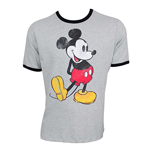 Mickey Mouse Ringer Tee Shirt X-Large -
