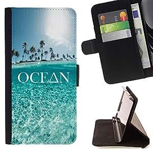 Momo Phone Case / Flip Funda de Cuero Case Cover - Ciel bleu - Sony Xperia M2