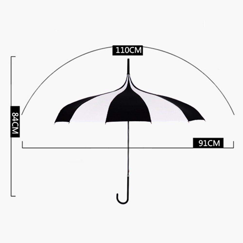 GYL YUSAN LWFB Umbrella//16 Ribs Windproof//Vinyl Parasol//Long-Handle//Automatic Open//Creative Stick Umbrella For Women And Men Bumbershoot