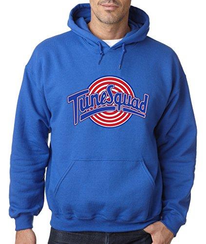 (New Way 487 - Hoodie Tune Squad Space Jam Basketball Team Unisex Pullover Sweatshirt 4XL Royal Blue)