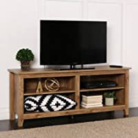 Wood TV Stand for TVs up to 60, Barn Wood