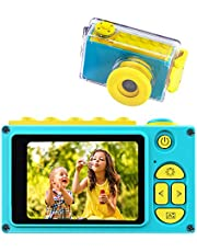 BlueFire Kids Digital Camera Mini 2 Inch Screen Children's Camera 8MP HD Digital Camera with Waterproof Case & 256M SD Card, Birthday / Christmas / New Year Toy Gifts for 4 5 6 7 8 9 10 Year Old Kids(Blue)