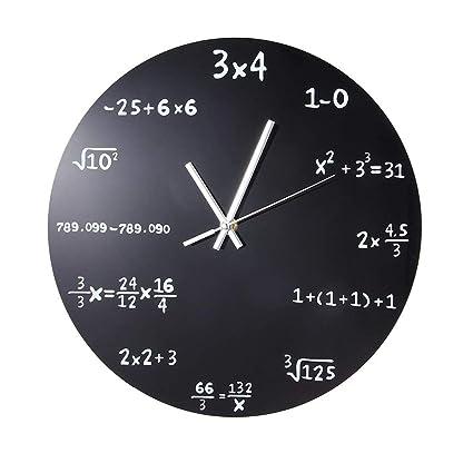 XTXWEN 12 matemáticas Pizarra Reloj de Pared-Reloj ...