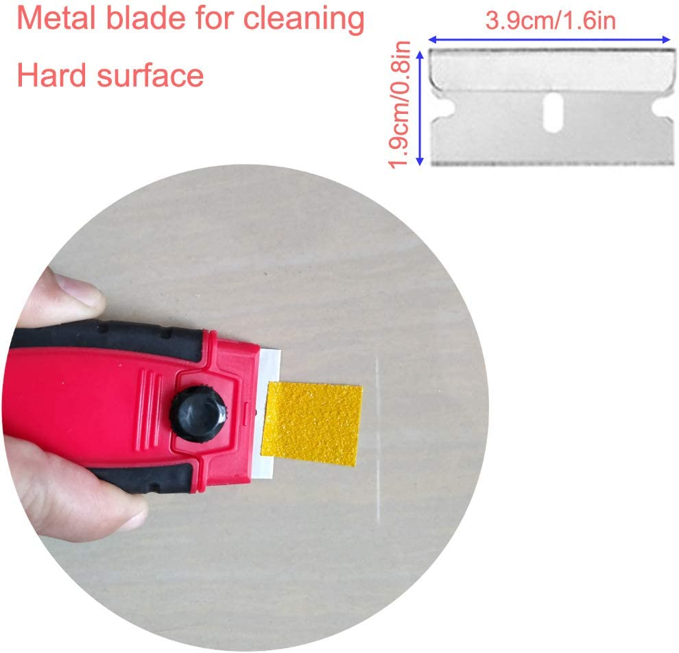 EEFUN Glass Scraper with 11pcs Carbon Steel Blades for Removing Vinyl Decals Stickers /&Glue from Cars Boats and Other Delicate Surfaces