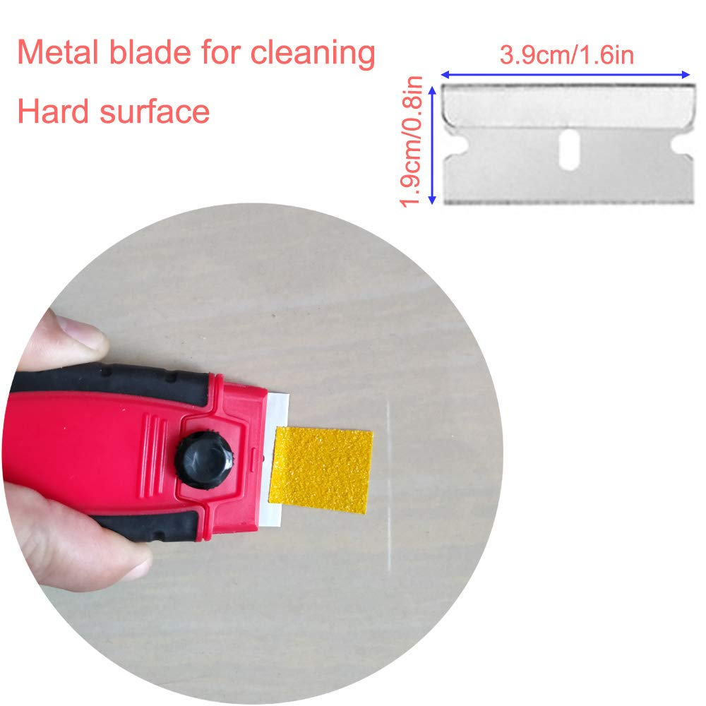 EEFUN Razor Blade Scraper with 10pcs Carbon Steel Blades for Removing Vinyl Decals Stickers /&Glue from Cars Boats and Other Delicate Surfaces