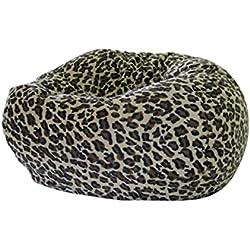 Gold Medal Bean Bags Small/Toddler Safari Micro-Fiber Suede Bean Bag, Leopard