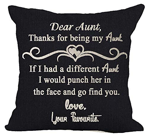 Blessing Gift to Aunt Thanks Being My Aunt Cotton Linen Square Throw Waist Pillow Case Decorative Cushion Cover Pillowcase Sofa 18