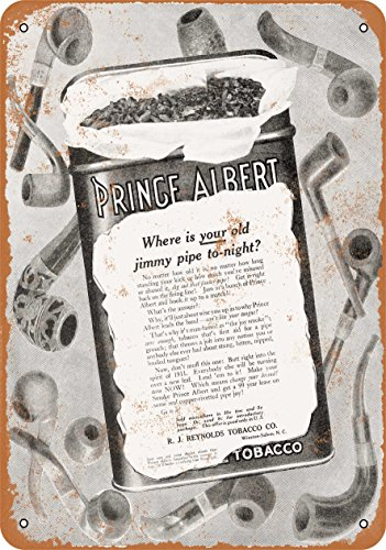 (Wall-Color 10 x 14 Metal Sign - 1910 Prince Albert Pipe Tobacco - Vintage Look)