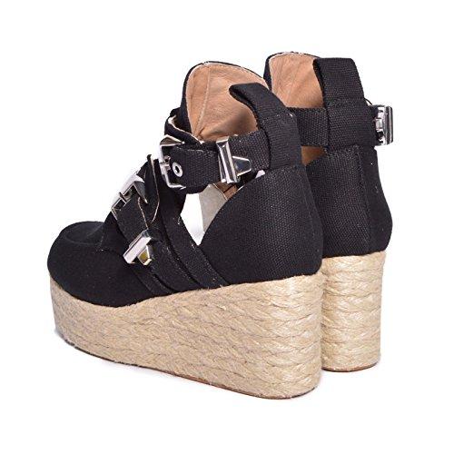 ... Jeffrey Campbell - Zapatos de vestir de Lona para mujer Negro negro 36 aab2e5bed9c9