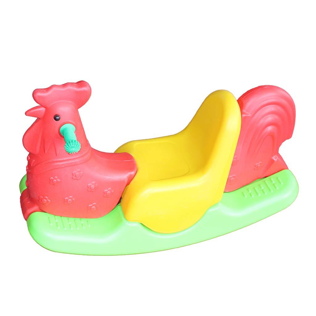 Caballo mecedora HUYP Silla Mecedora Interior para Niños Linda Caballo De Madera para Niños Juguete Plástico Gran Engrosamiento (Color : Red)