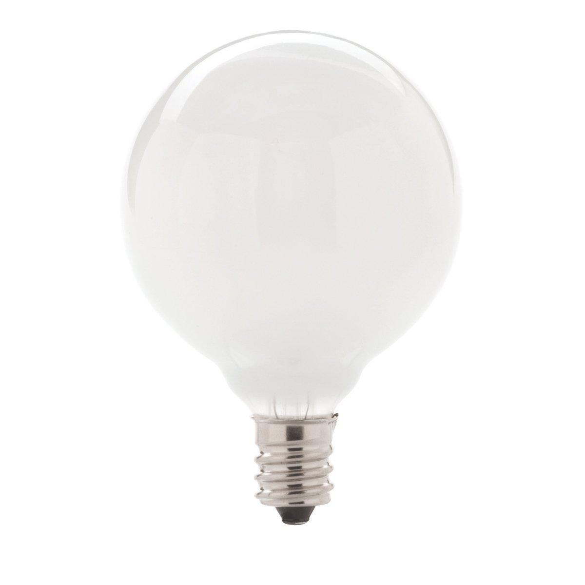 40-watt G16.5 Decorative Globe E12 Candelabra Base Light