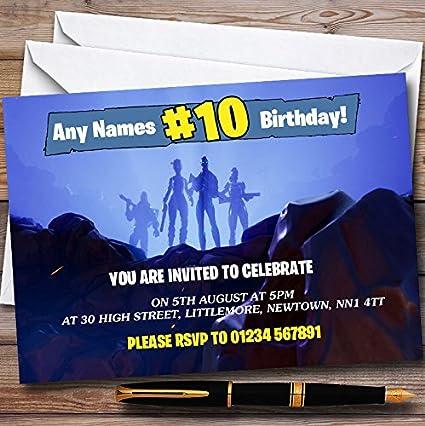 Paquete de 10 invitaciones para fiesta de niños - 10 ...