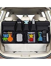 Rovtop Organizer voor kofferbak, auto, organizer voor kofferbak, SUV en MPV, 9 vakken voor het opbergen van autogadgets, houd je auto op orde en vervoer meer voorwerpen
