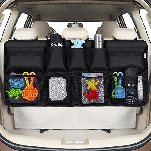 Black Keep Car Clean and Organized Secure Car Organizer with Adjustable Straps to Fit All Vehicles Onewell Car Boot Organiser Durable Foldable Cargo Net Storage for More Trunk Space