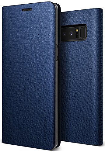 Galaxy Note 8 케이스 수첩형 가죽 VRS DESIGN Native S 핸드 메이드 레더 마그넷 없음 초박형 슬림 수첩 커버 [ Samsung Galaxy Note8 ] 암청색