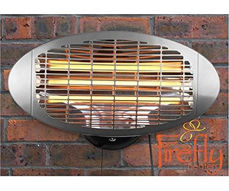 Estufa de Pared para Exterior con 3 Opciones de Calor - Firefly: Amazon.es: Hogar