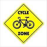Cycle Crossing Sign Zone Xing | Indoor/Outdoor | 12' Tall bike trail ride moutain road