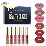 BEAUTY GLAZED 6pcs/Set Liquid Lip Gloss Professional Lip Makeup Tool Velvet Matte Moisturizing Hydrating Nutritious Lipstick Kit
