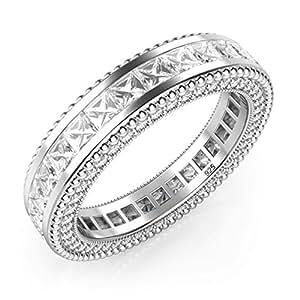 Amazon.com: 925 Sterling Silver Princess Cut Cubic