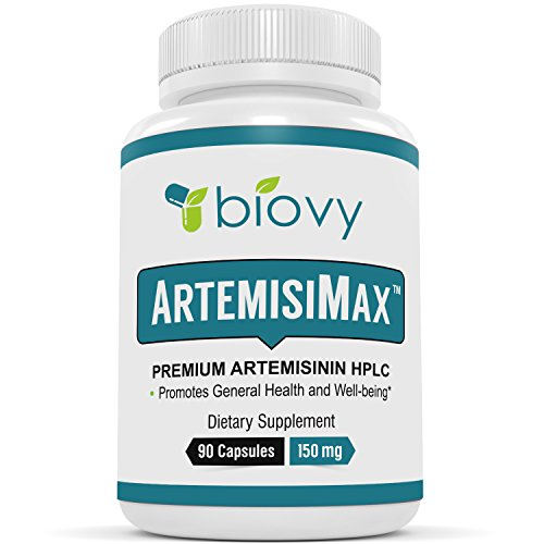 Artemisinin HPLC Standardized to 98 Percent - Non-GMO, Vegan, and Gluten Free - 90 Veggie Capsules 150 milligrams - Pure Sweet Wormwood Extract - Chinese Worm Wood - Sweet Annie Herb