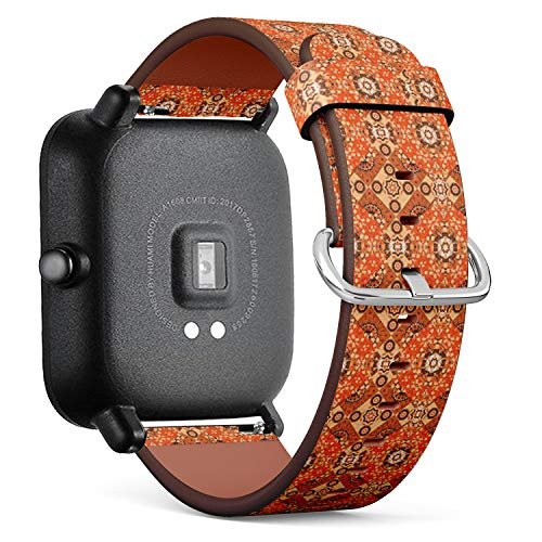 - Compatible with Huami Amazfit Bip - Quick-Release Leather Band Bracelet Strap Wristband Replacement - Tile Lisbon Floral