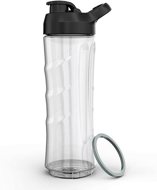 homgeek Mini Batidora Accesorios, Botella de Mini Licuadora de 600 ml con Tapa sin BPA: Amazon.es