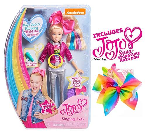 Ropeastar JoJo Siwa Doll Play Set with JoJo Siwa Signature Hair Bow for Girls (Singing Doll: Hold The Drama) -