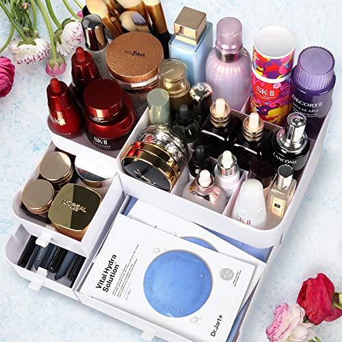 White Makeup Organizer for Vanity, Makeup Storage,Instagram Makeup Organizer Countertop,Cosmetic Organizer,Desk Organize for Makeup Tools, Small Accessories at Home