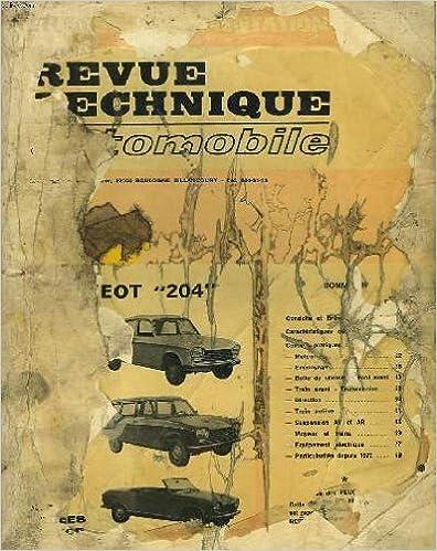 """Téléchargement gratuit d'ebooks faciles Revue technique automobile peugeot """"204"""" diesel. break, berline, fourgonnette (fin de fabrication) in French ePub B004Z02YHI"""