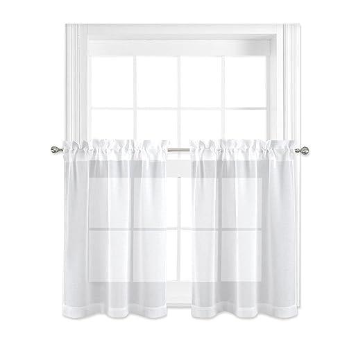 Sheer Kitchen Curtains Amazon Com