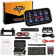 Auxbeam 8 Gang Switch Panel Automatic Dimmable LED Light Touch Control Panel Box with Harness and Label Sticke