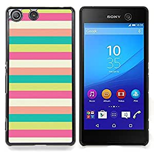- Lines Sunny Beach Pattern Pastel Teal/ Duro Snap en el tel????fono celular de la cubierta - Cao - For Sony Xperia M5