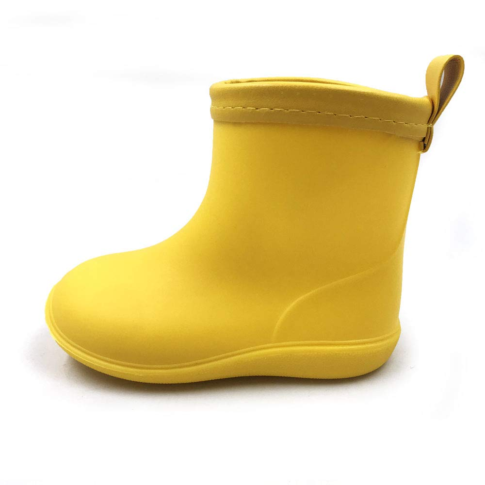 Amoji Baby Kids Easy On Rain Shoes Boots for Toddler Little Kid