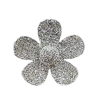 Bestbling Crystal Bling Sparking Car Fragrance Flower Car Diffusser Air Freshener with Vent Clip (Silver): Automotive