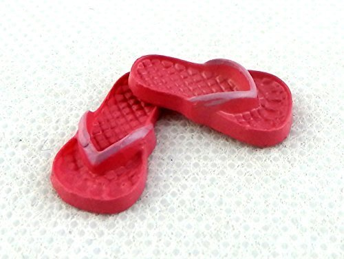 Melody Jane Dolls Houses House Miniature Summer Beach Accessory Adult Flip Flops Sandals Shoes