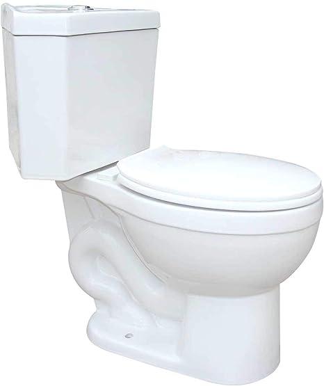 Troyt Compact Corner Bathroom Toilet 2-Piece Round