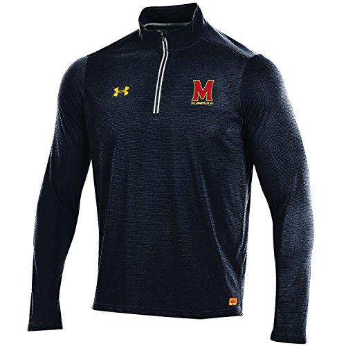 Maryland Terrapins Light - Under Armour NCAA Maryland Terrapins Men's Threadborne Lightweight 1/4 Zip Apparel, Large, Black