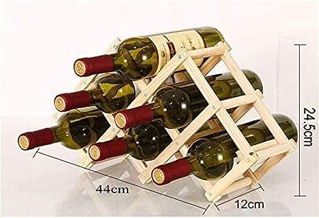 Estante Para Vino Estante Para Botellas Almacenamiento Estante Para Copas De Vino Estante De Madera Maciza Estante Para Vino Estante Para Vino De Pino Estante Plegable Creativo Decoración Vinotecas