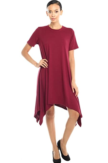 2LUV Womens 3/4 Sleeve A-Line Tunic Dress at Amazon Womens Clothing store: