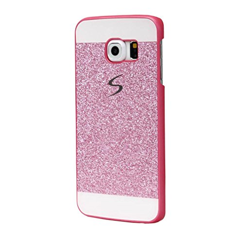 New Crystal Plastic Cover Case (Creazy®Luxury BLing Diamond Crystal Rhinestone Case Cover for Samsung Galaxy S6 (Pink))
