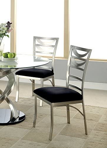 Furniture of America Catarina Metal Ladder-Back Dining Chair, Set of 2