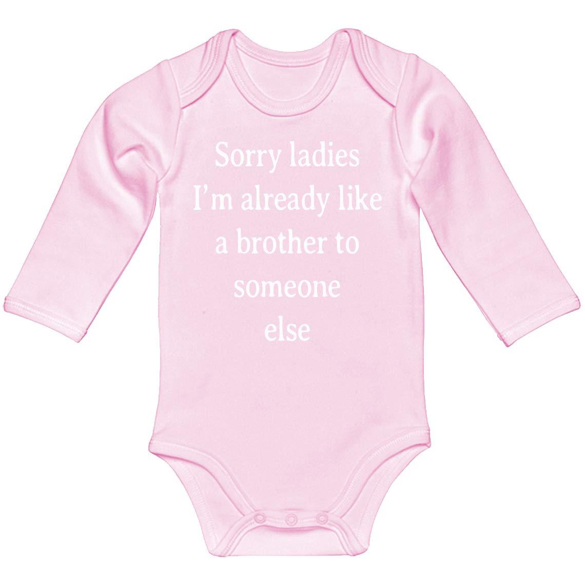 Indica Plateau Baby Romper Sorry Ladies 100/% Cotton Long Sleeve Infant Bodysuit