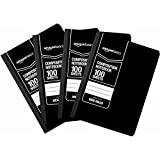 AmazonBasics Wide Ruled Composition Notebook, 100-Sheet, Solid Black, 4-Pack