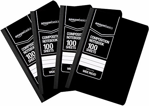 AmazonBasics Wide Ruled Composition Notebook