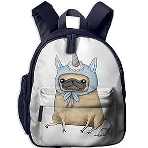 Children's Obedient Unicorn Bulldog Pug Dog Book Bags/Packbags School Bag For Kids