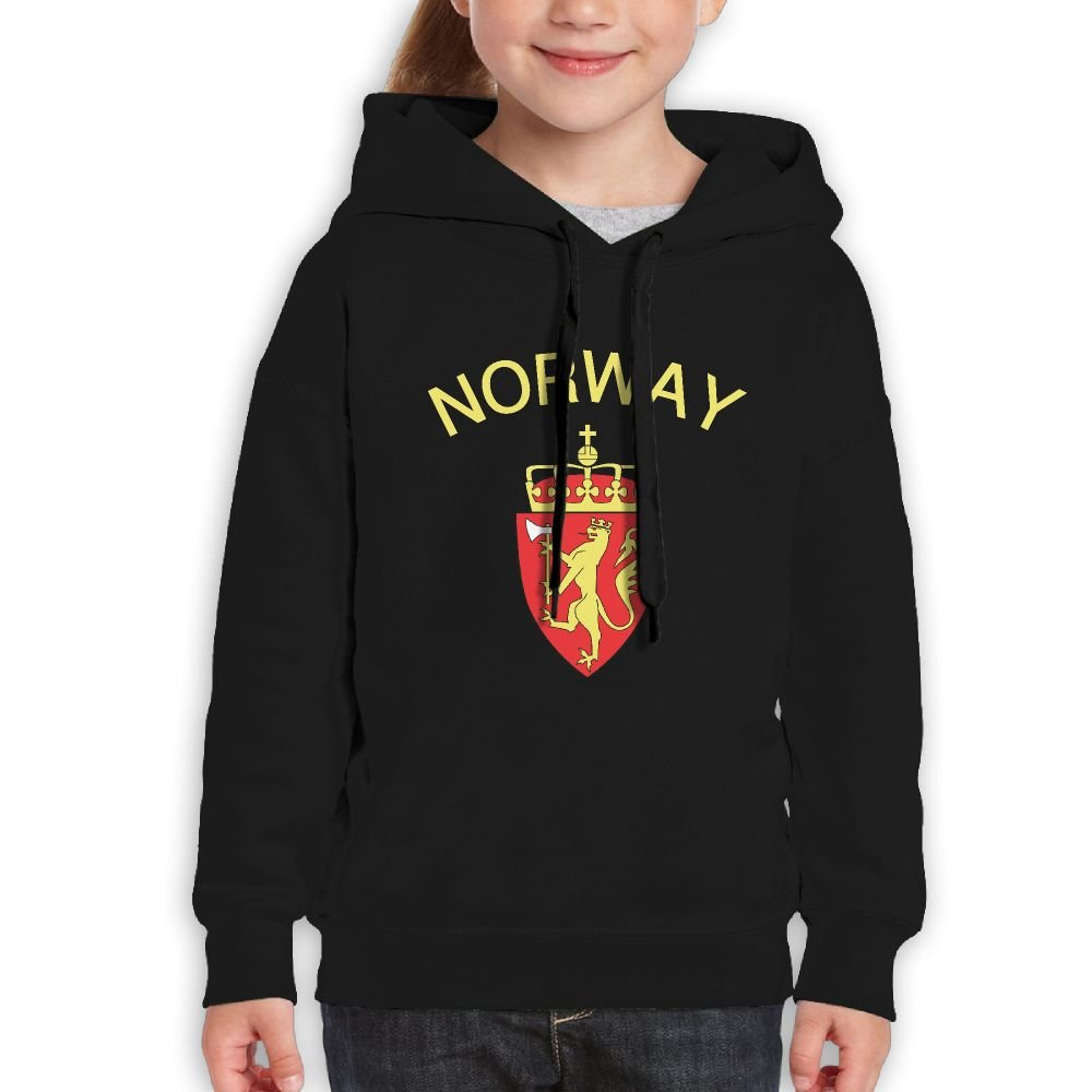 QTHOO Youth Long Sleeve Norway Coat Of Arms Lightweight Hoodie