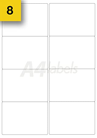 a4 labels brand 160 x 99mm x 68mm white sticky address labels