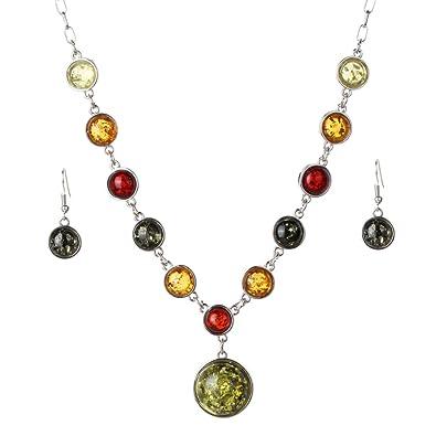 YAZILIND New Design Jewelry Sets Tibetan Silver Pendant Necklace Water Drop Earrings Set Jewellery For Women UXaeG