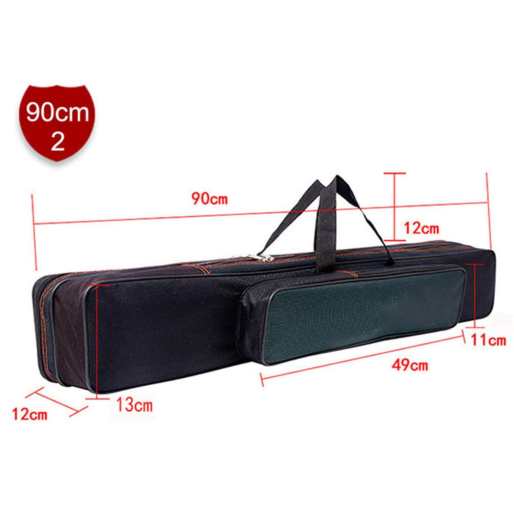 Purpume Waterproof Fishing Bag Case for Fishing Tools 2/3 Layer Canvas Telescopic Backpack 90cm 2-Layer